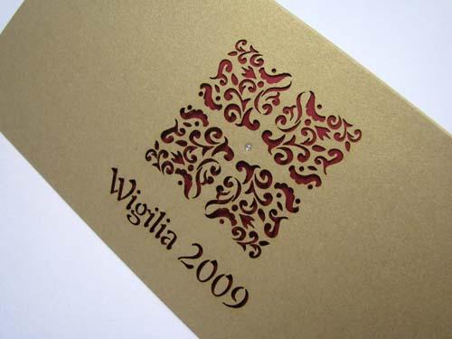 Zaproszenie Wigilijne K002 Kartki świąteczne Dla Firm Na Boże