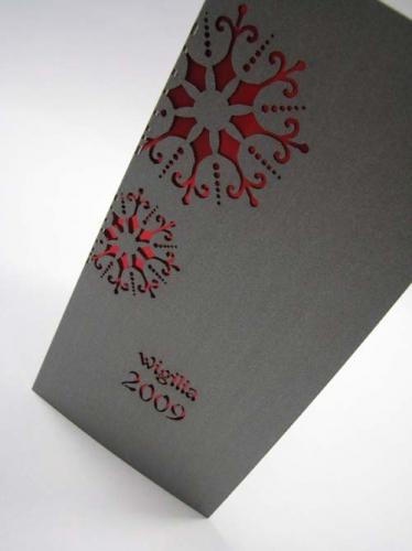 Zaproszenie Wigilijne K005 Kartki świąteczne Dla Firm Na Boże