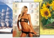 KALENDARZE PLAKATOWE B1 - z nadrukiem reklamowym w 2 kolorach